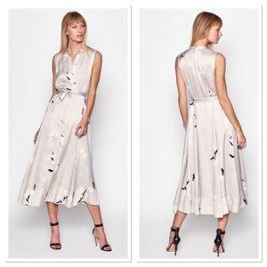 Equipment Silk Clevete Sleeveless Midi Dress 0